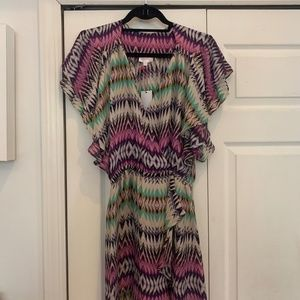 NWT Parker Flora Silk Dress, Shockwave, Size Small